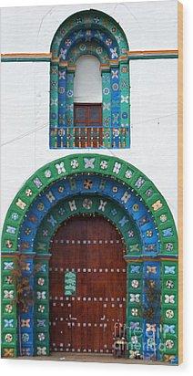 Church At San Juan Chamula 2 Wood Print