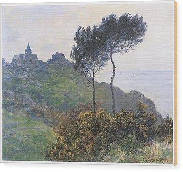 Church At Varengeville Wood Print by Claude Monet