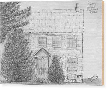 Church Wood Print by Brenda Bonfield