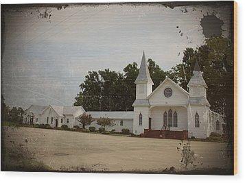 Church Complex Wood Print by Carolyn Ricks
