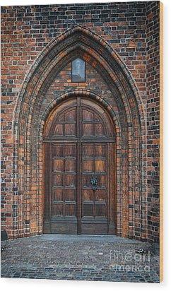 Church Door Wood Print by Antony McAulay