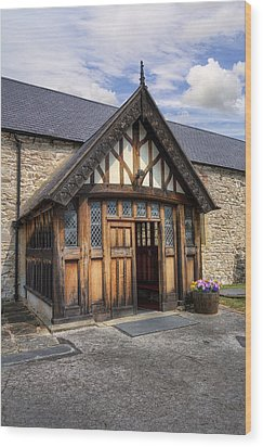 Church Entrance Wood Print by Ian Mitchell