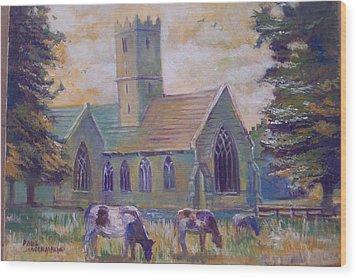 Church In Adare Wood Print by Paul Weerasekera
