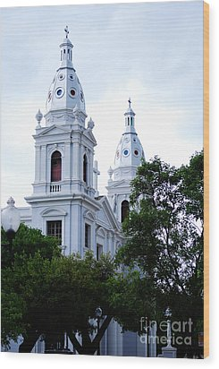 Church In Puerto Rico Wood Print by DejaVu Designs