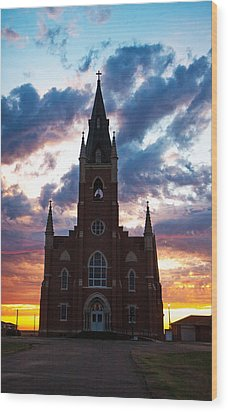 Wood Print featuring the photograph Silouette Of Faith by Shirley Heier