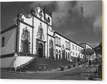 Church In Vila Franca Do Campo Wood Print by Gaspar Avila