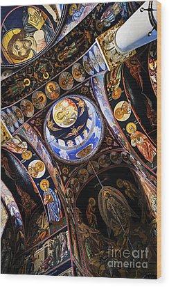 Church Interior Wood Print by Elena Elisseeva