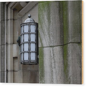 Church Lamp Wood Print by Chris Thomas