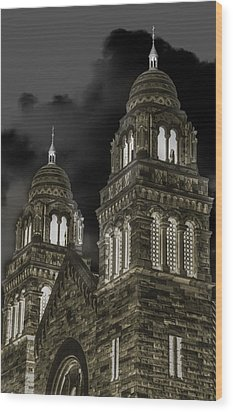 Church Lights On St. Peter Cathedral Wood Print by Optical Playground By MP Ray