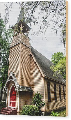 Church Of Atonement Wood Print by Steven  Taylor
