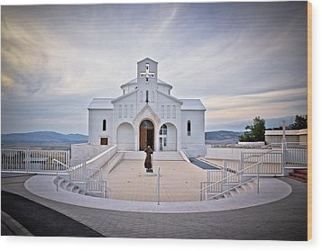 Church Of Croatian Martyrs In Udbina Wood Print by Brch Photography