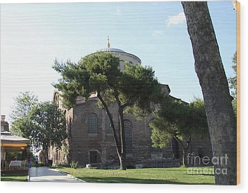 Church Of Hagia Eirene I - First Courtyard Topkapi Palace Wood Print by Christiane Schulze Art And Photography