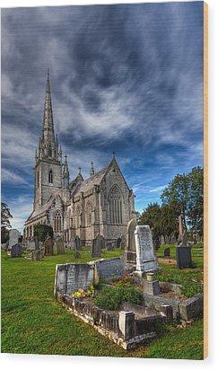 Church Of Marble Wood Print by Adrian Evans