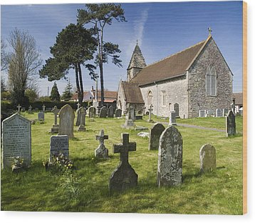 Church Of St John The Evangelist - Kenn - North Somerset Wood Print by Rachel Down