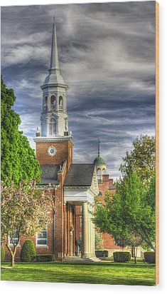 Church Of The Abiding Presence 1a - Lutheran Theological Seminary At Gettysburg Spring Wood Print by Michael Mazaika