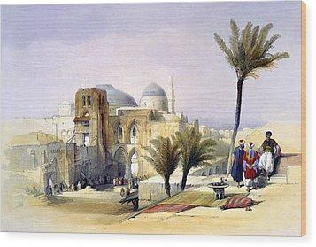Church Of The Holy Sepulchre In Jerusalem Wood Print by Munir Alawi