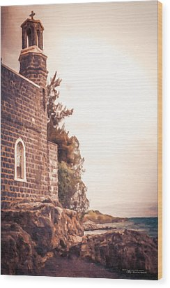 Church Of The Loaves And The Fishes Wood Print by Dustin Abbott