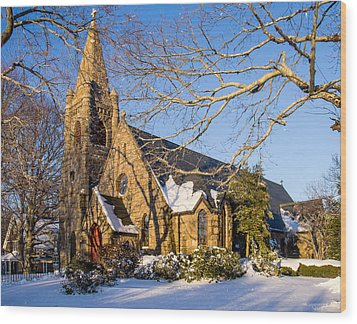 Church Of The Messiah Wood Print
