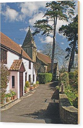 Church Path - Kenn - Somerset Wood Print by Rachel Down