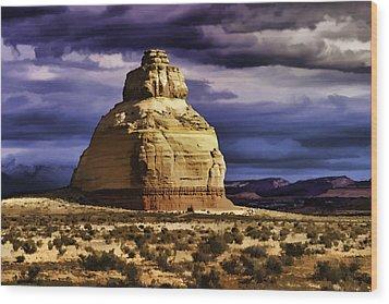 Wood Print featuring the painting Church Rock  by Muhie Kanawati
