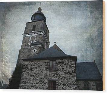 Church Saint Malo Wood Print by Barbara Orenya