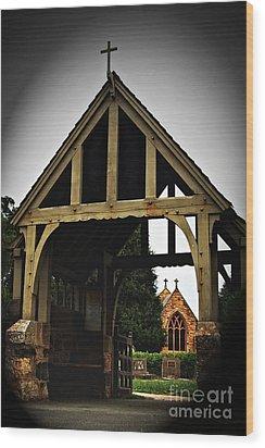 Church Wood Print by Serene Maisey