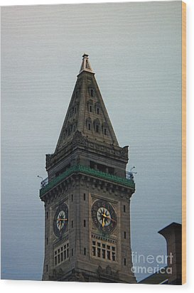 Wood Print featuring the photograph Church Steeple In Boston by Gena Weiser