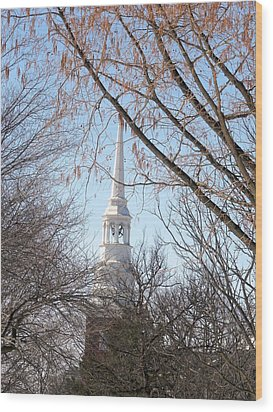 Church Steeple Wood Print by Teresa Schomig