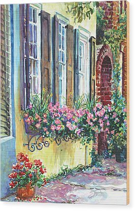 Church Street Textures Wood Print by Alice Grimsley