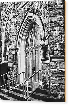 Church Timeless Appeal Wood Print by Janine Riley