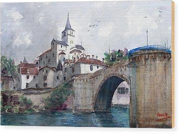 Church With A Bridge Wood Print