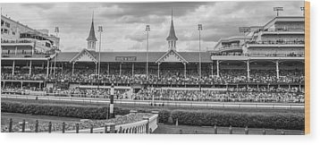 Churchill Downs And Twin Spires  Wood Print