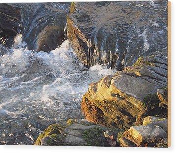 Churning Little Waterfalls On The Watauga Wood Print