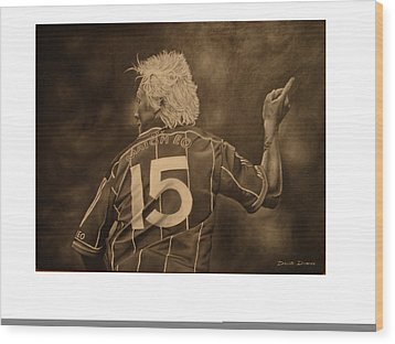 Wood Print featuring the painting Ciaran Mcdonald by David Dunne