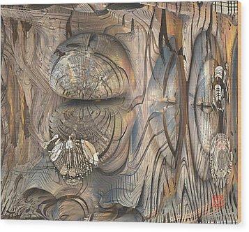 Cicada Wood Print by David Jenkins