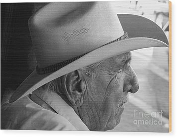 Cigar Maker Remembering His Past Wood Print by Rene Triay Photography