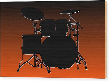Cincinnati Bengals Drum Set Wood Print by Joe Hamilton