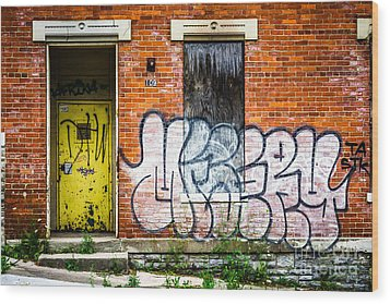 Cincinnati Glencoe Auburn Place Graffiti Picture Wood Print by Paul Velgos