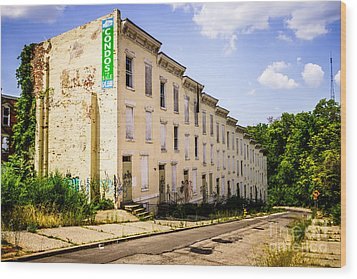 Cincinnati Glencoe-auburn Row Houses Picture Wood Print by Paul Velgos