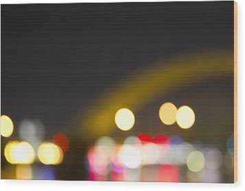Cincinnati Night Lights Wood Print