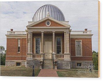 Cincinnati Observatory In Cincinnati Ohio Wood Print by Paul Velgos