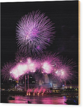 Cincinnati Reds Fireworks Friday Wood Print