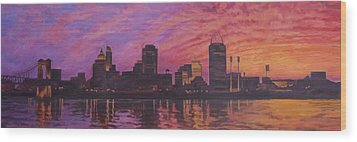 Cincinnati Skyline Wood Print by Andrew Danielsen