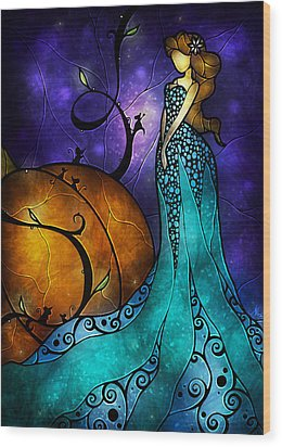 Cinderella Wood Print by Mandie Manzano