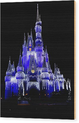 Wood Print featuring the photograph Cinderella's Castle by Laurie Perry
