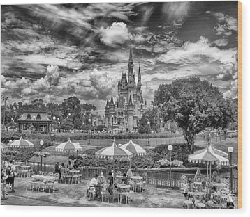 Wood Print featuring the photograph Cinderella's Palace by Howard Salmon