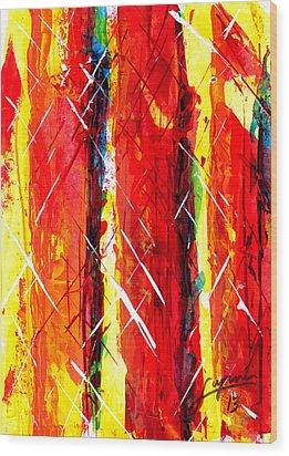 Cinders Wood Print
