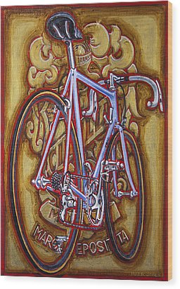 Cinelli Laser Bicycle Wood Print by Mark Howard Jones