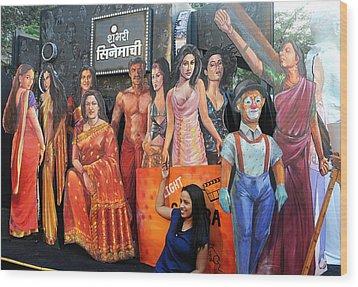 Cinema Goer Wood Print by Money Sharma
