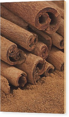 Cinnamon Sticks 2 Wood Print by John Brueske